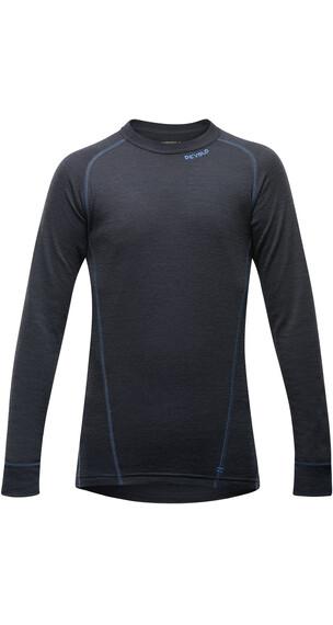 Devold Juniors Duo Active Shirt Black/Blue